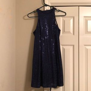 Navy blue sequined dress